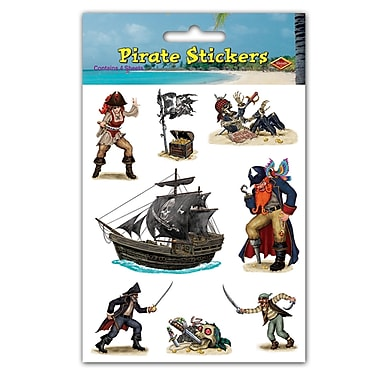 Pirate Stickers, 4-3/4