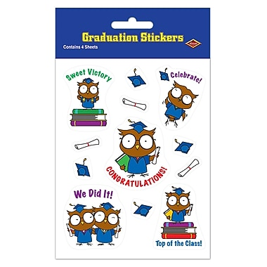 Owl Graduate Stickers, 4-3/4