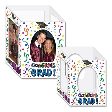 Centre de table avec photos « Congrats Grad », 6 x 7 3/4 po, multicolore, paquet de 8