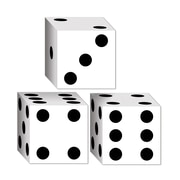 "Beistle 3 1/4"" x 3 1/4"" Dice Favor Box, 12/Pack"