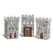 """Beistle 3 1/4"""" x 6"""" Castle Favor Box, 9/Pack"""