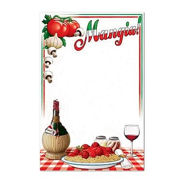 Tableau de menu italien, 21 1/4 x 13 1/2 po, 4/paquet