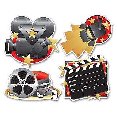 Découpes icônes plateau de tournage, 16 po, paquet de 12