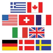 "International Flag Cutouts, 4-1/2"", Mini, 70/Pack"