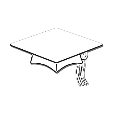 Mini Grad Cap Cutouts, 4