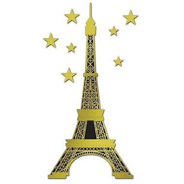 Jointed Foil Eiffel Tower, 5' 10-1/2