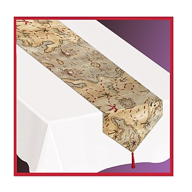 Printed Treasure Map Table Runner, 11