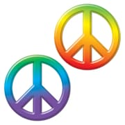 "Beistle 9"" Plastic Peace Sign, 8/Pack"