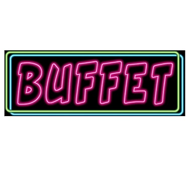 Neon Buffet Sign, 8