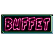"""Neon Buffet Sign, 8"""" x 22"""", 9/Pack"""
