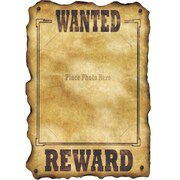 """Western Wanted Sign, 17"""" x 12"""", 9/Pack"""