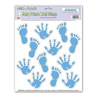 Light Blue Baby Prints Peel 'N Place, 12