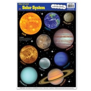 "Beistle 12"" x 17"" Solar System Peel 'N Place Sticker, 40/Pack"