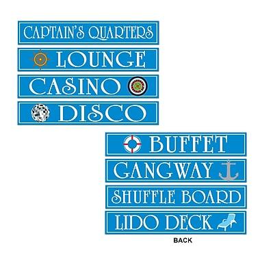 Pancartes pour bateau de croisière, 4 po x 24 po, 12/paquet