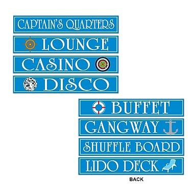 Cruise Ship Sign Cutouts, 4