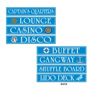 "Cruise Ship Sign Cutouts, 4"" x 24"", 12/Pack"