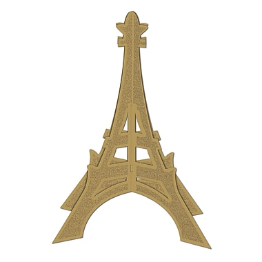 Centre de table scintillant 3 dimensions de la tour Eiffel, 12 po, 4/paquet