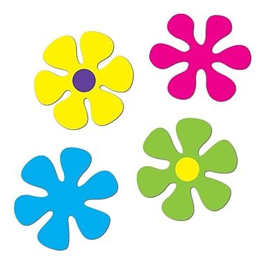 Découpes rétro en forme de fleur, 12 po, multicolores, paq./12