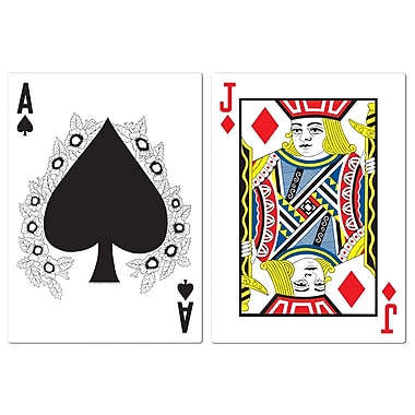 Jumbo Blackjack Cutouts, 25