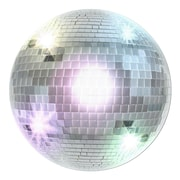 "Disco Ball Cutout, 13-1/2"", Silver, 10/Pack"
