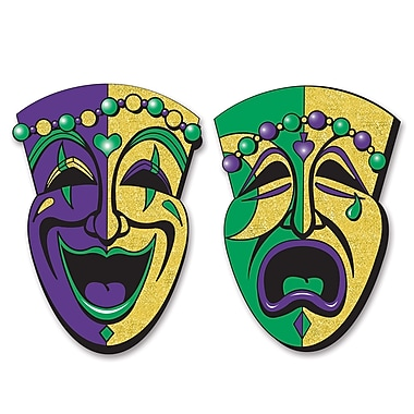 Jumbo Glittered Comedy & Tragedy Faces, 24-1/2