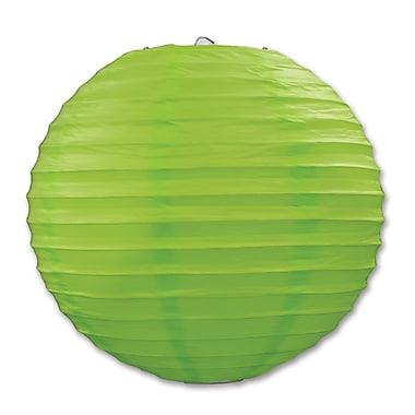 Lanterne en papier, 9 1/2 po, vert clair, paquet de 6