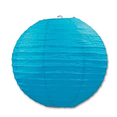 Lanterne en papier, 9 1/2 po, turquoise, paquet de 6