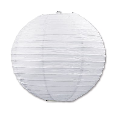 Lanterne en papier, 9 1/2 po, blanc, paquet de 6