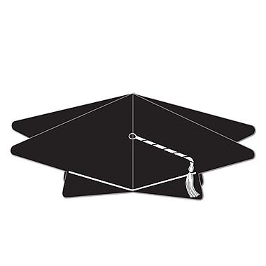 Centre de table 3D en forme de mortier, 10 1/2 po, noir, paquet de 5