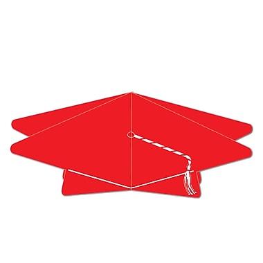 Centre de table 3D en forme de mortier, 10 1/2 po, rouge, paquet de 5