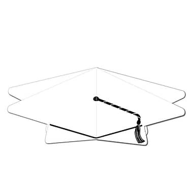 Centre de table 3D en forme de mortier, 10 1/2 po, blanc, paquet de 5