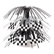 "Beistle 7 1/2"" Checkered Flag Mini Cascade Centerpiece, 4/Pack"