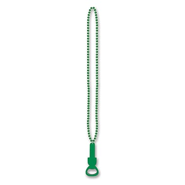 Beistle Beads Necklace With Bottle Opener, 36