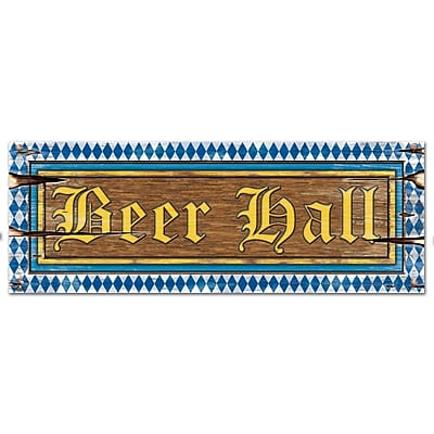 """""Beistle 8"""""""" x 22"""""""" Beer Hall Sign, 9/Pack"""""" 1067285"