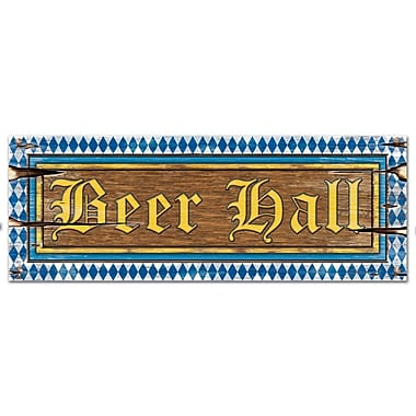 Affiche « Beer Hall », 8 x 22 po, paq./9
