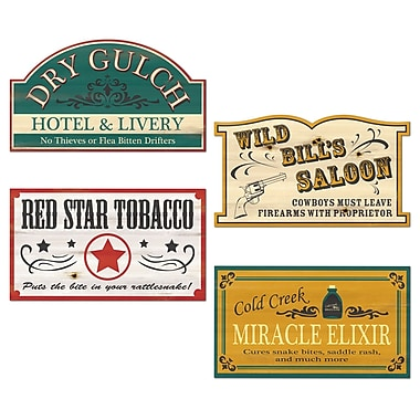 Old Style Western Sign Cutouts, 16