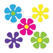 "Mini Retro Flower Cutouts, 4-1/2"", Multi-Colour, 70/Pack"