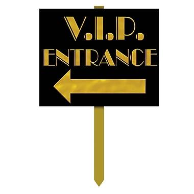 Affiche de jardin entrée VIP, 12 x 15 po, paquet de 3