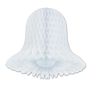 Cloches Westminster blanches, 9 po, paquet de 6