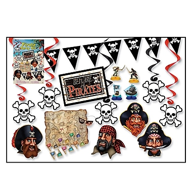 Pirate Party Kit, 16 Assorted Decorations