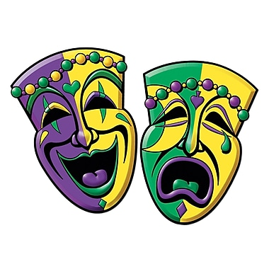 Comedy & Tragedy Face Cutouts, 16