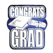"""Beistle 13"""" Printed Foil Congrats Grad Cutouts, Blue, 5/Pack"""