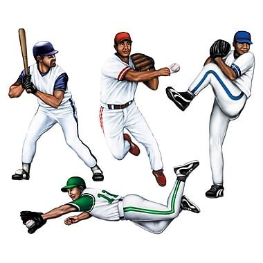 Découpes « Joueur de baseball », 20 po, paquet de 12