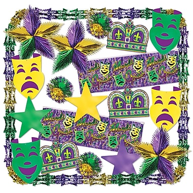 Beistle 22-Piece Mardi Gras Metallic Decorating Kit