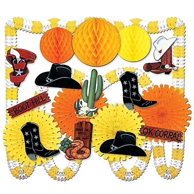 Boots & Hats Western Decorating Kit, Assorted
