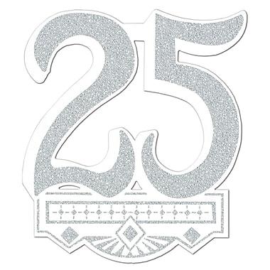 Écusson 25e anniversaire de mariage, 14 po, paquet de 5