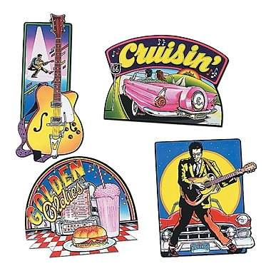 Beistle Rock and Roll Cutouts, 16