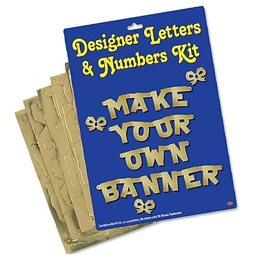 Gold Designer Letters & Numbers Kit, 4-1/2