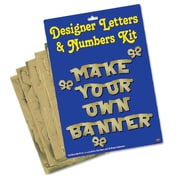 Gold Designer Letters & Numbers Kit, 4-1/2""