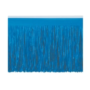 "Beistle 15"" x 10' 6-Ply Tissue Fringe Drape, Blue, 2/Pack"